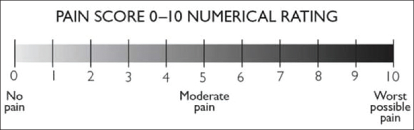 Figure 1:  Numeric Rating Scale